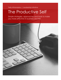 The Productive Self Book